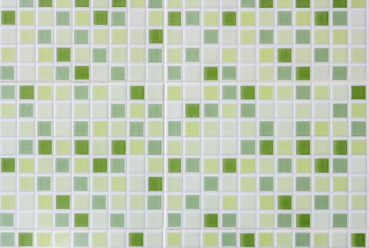 Blur green ceramic mosaic background.